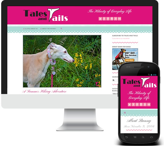Custom WordPress Blog and Logo Design - Tales and Tails