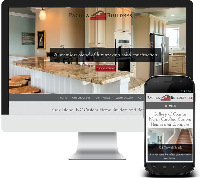 Custom Home Builder Website - Pacula Builders