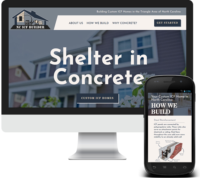 ICF Home Builder Website