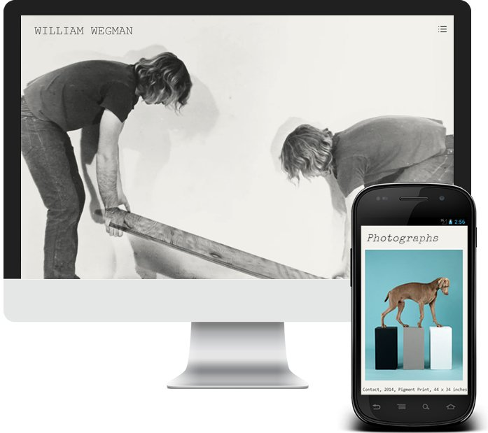 William Wegman - Offical Custom Website Design by MyUntangled Media